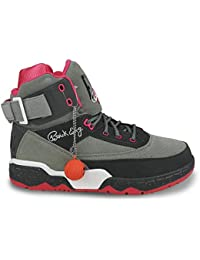 best sneakers 40314 04214 Ewing Athletics 33 HI X Staple Grey Pink White Basketball Shoes Limited  Edition
