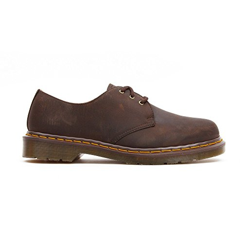 Dr. Martens 1461z Smooth Cherry, Scarpe Basse Stringate Unisex – Adulto Marrone (Gaucho Crazy Horse)