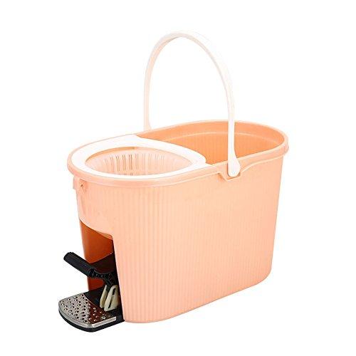 Wischmop und Eimer-Set, ausziehbarer Griff Spin-Mechanismus Bodenstaubwischer-Reinigungsmopp, komplettes Wasch- und Trockenreinigungssystem