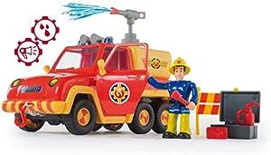 Smoby Toys, 109257656002, Sam el Bombero, Uso Carro con Agua Salpicaduras Función + 4Accesorios + 1Figura Incluye
