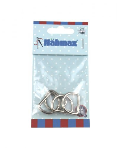 Halbrundringe 20 mm D-Ringe Metallringe 314211