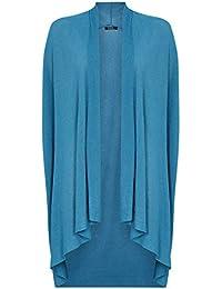 Roman Originals - Cardigan Drapé Sans Manches Large Gilets Été Casual Fluide Décontracté Femme - Bleu