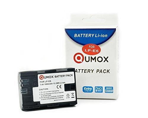 Canon Lp Mah Batterie 4v E6n 1800 Pour 60d 7 70d Qumox Eos 7d E6 H9DIW2EY
