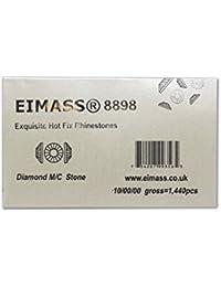 EIMASS Strasssteine Swarovski Alternative ® 8898 Exquisite Hot-Fix, flache Rückseite, Glaskristall, Diamanten, Edelsteine, Strass zur Verschönerung von Kostümen