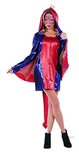 Dragon Lady Damen Kostüm Kleid Fantasy Drache Karneval Tierkostüm