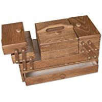 Aumueller - Costurero (madera de haya, 45 x 24 x 32 cm), color marrón