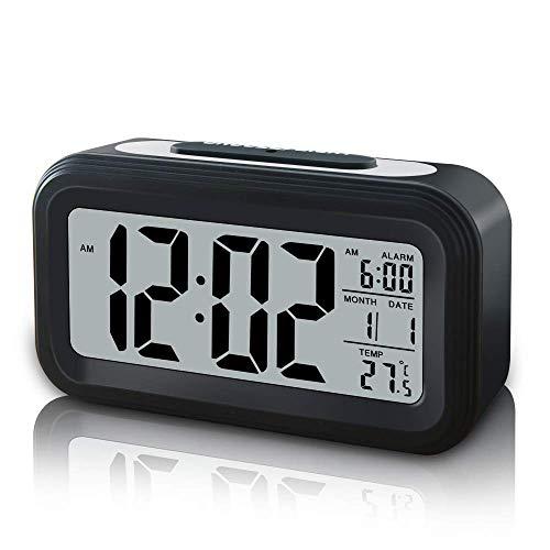 FONCBIEN Reloj Despertador Digital, Reloj Alarma LCD Pantalla Despertador Infantil con Snooze/Retroiluminación/Temperatura...