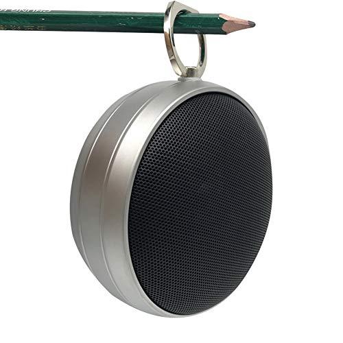 NFSQYDT Tragbarer Bluetooth-Lautsprecher, drahtloser Kleiner Stahlkanonen-Lautsprecher, geeignet für Innen-, Außen- usw, Spieldauer 8 Stunden,C