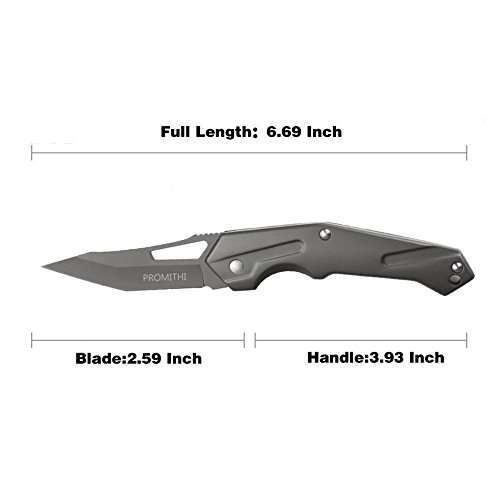 41M zLnjb4L. SS500  - Promithi Outdoor Foldable Knife, Grey
