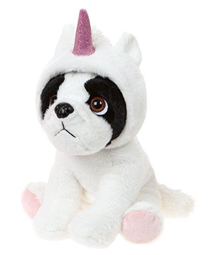 Kuscheltier Hund Französische Bulldogge verkleidet mit Einhorn Kostüm, Stoffhund ca. 20 (Kostüme Hunde Für Einhorn)