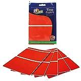 Tico E-11870-R. Pegatinas de colores rectangulae