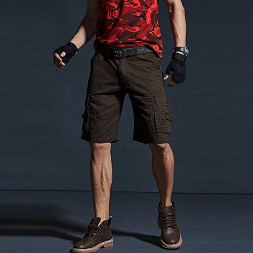 negozio online 8ccd0 2406e Xinwcanga Uomo Bermuda Chino Pantaloni Corti Casual Vintage ...