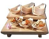 Goto - Lote de 200 Barcos de Madera de bambú para Fiestas, Aperitivos, Bolitas, canapé de 105 x 77 mm, por Favor, Comprueba el tamaño Antes de Realizar el Pedido.