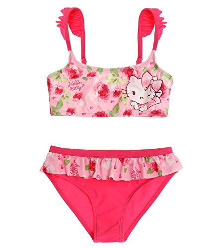 Hello Kitty Mädchen Bikini - pink - 104 (Hello Kitty Bikini)