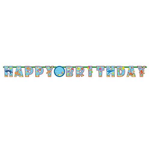 Amscan 1216243,2m x 23cm Ocean Buddies hinzufügen Einem Alter Happy Birthday Letter Banner