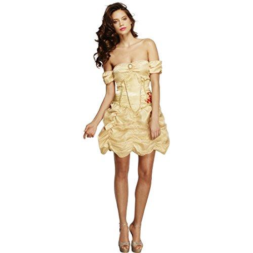 Costume de princesse sexy robe de reine dorée S 38/40 Tenue royale de conte mini robe Cendrillon Belle habit de princesse déguisement de carnaval Disney costume femmes