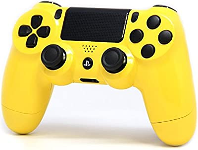 """Glossy Yellow"" Ps4 Rapid Fire Custom Modded Controller 35 Mods COD BO3, Advanced Warfare, Destiny, Ghosts Quick Scope Auto Run Sniper Breath and More"