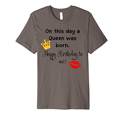 wurde ein Queen Heute geboren Happy Birthday Krone Logo T-Shirt