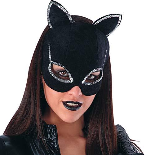 Maschera donna gatto catwoman in dainetto sintetico