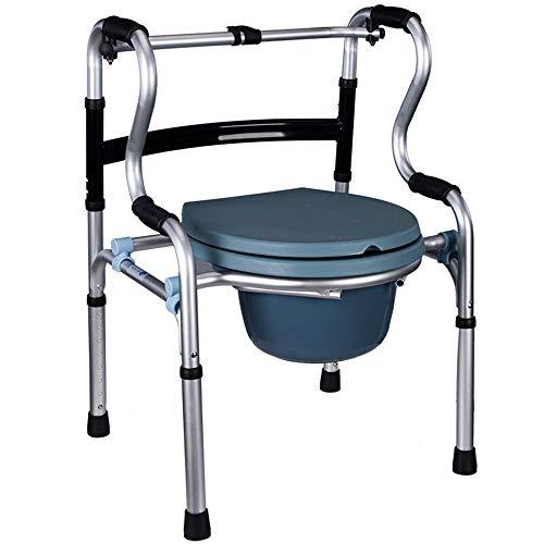 RFJJAL Silla para discapacitados andadera de aleación de Aluminio Grueso Plegable para Hombre Viejo (sin Rueda/sin Placa de Asiento)