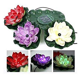 Bazaar Solar Power LED Floating Lotus Licht Nacht Teich Garten Brunnen Pool Blumen Lampe (Brunnen-pool)
