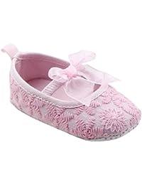 Auxma Zapatos de bebé para 0-18 meses,Toddler Niña Suela suave Cuna Zapatos Zapatillas de deporte