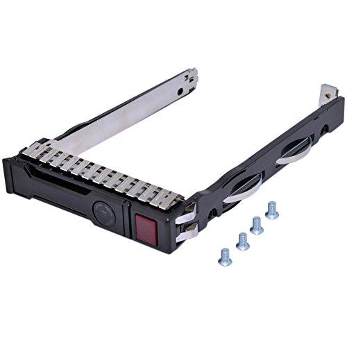 RGBs 6,3cm SFF SAS SATA HDD TRAY CADDY für HP ProLiant 651687–001651699–001G8Gen8Gen9G9ML350p ML350DL360e DL360P DL320E DL380p DL160SL270s 230Serie mit 4Befestigungsschrauben (Tray Sas-festplatte)