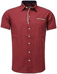 Carisma - Chemise manche courte pas cher homme Carisma 9-086 Rouge