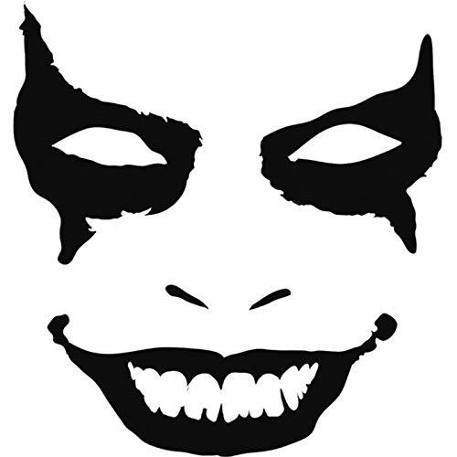 13,7 cm Joker Clown Gesicht Mode Vinyl Auto Styling Autozubehör Aufkleber Schwarz/Silber 5 stücke ()