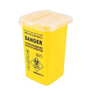SUPVOX Sharps Box Sharps Bin Tattoo Nadeln Behälter (Gelb)