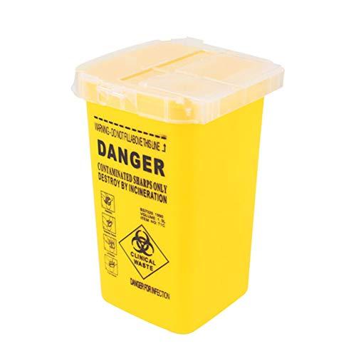 Healifty Behälter für Tattoo-Nadeln zum Entfernen von Nadeln medizinischen Versorgungen und Geräten (gelb)