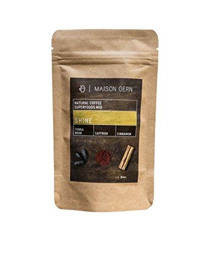 Superfood Kaffee | Shine | Bio Kaffee-Mischung mit Tonkabohne, Safran und Zimt, die die Laune hebt...