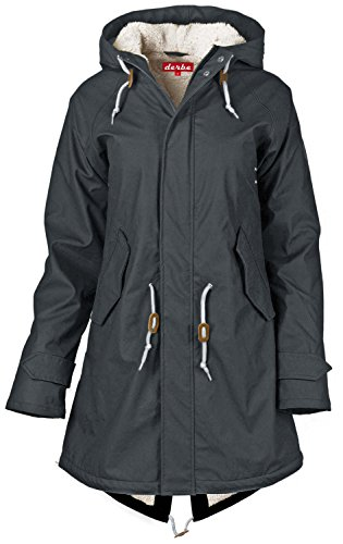 derbe Travel Cozy Friese - Regenmantel, phantom grau, 44