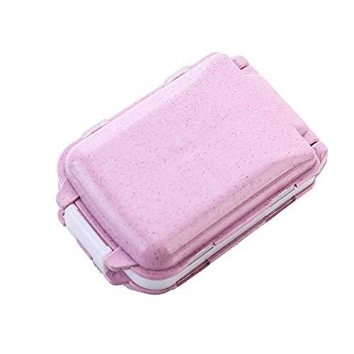 WANGXN Mini Pill Box Folding Wöchentlich Compact Pill Case Reminder 8 Fächer Pill Organizer Box