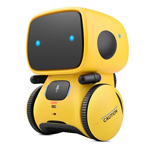 ETEPON Kinder Roboter Toy Boys Girls Sprachsteuerung Interaktiver Tanzroboter mit berührungsempfindlicher Spracherkennung und Sprachaufnahme AT001