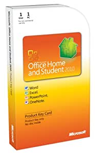 Microsoft Office Home and Student 2010 - 1PC/1User - englisch (Product Key Card)