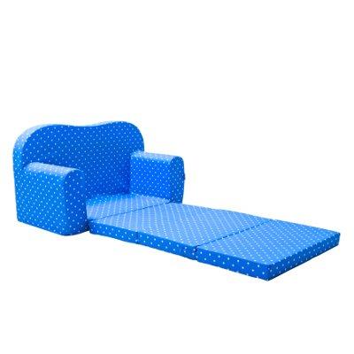 Gepetto Maxi Kindersofa blau ausklappbar plus extra Kissen - mit Liegefunktion als Gästebett - 2