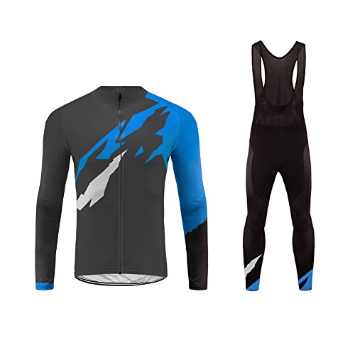 Uglyfrog Abbigliamento Ciclismo Uomo Asciugatura Veloce Maglia Manica Lunga +Pantaloni Abbigliamento da Ciclismo Abbigliamento Sportivo da Equitazione CXMX01