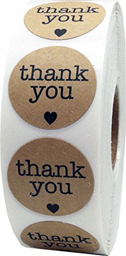 instocklabels-black-thank-you-on-natural-kraft-envelope-package-seals-dot-circle-adhesive-stickers-2