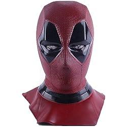 Supmaker Máscara de Halloween Película Deadpool Máscara Látex Cabeza Completa Wade Winston Wilson Casco Deadpool Costume Deluxe Máscara para Disfraces Cosplay Disfraces de Lujo