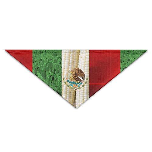 Pet Bandanas Maiskaktus Mexiko Flag Dog Bandanas Schals Dreieck Lätzchen Schals Funny Basic Halstuch
