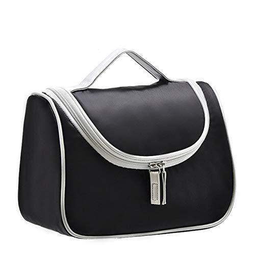 zyl Beauty Case da Viaggio Borsa da Toilette Cosmetico Bag,Impemeabile Multi-compartimenti per Organizzare Oggetti Personali,Black-22cm*17cm*12cm