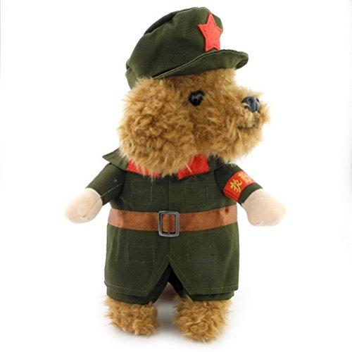 zunea Kleiner Hund Kleidung Mädchen Jungen Militär Hund Kostüm Soldier - Adult Cocker Spaniel Kostüm