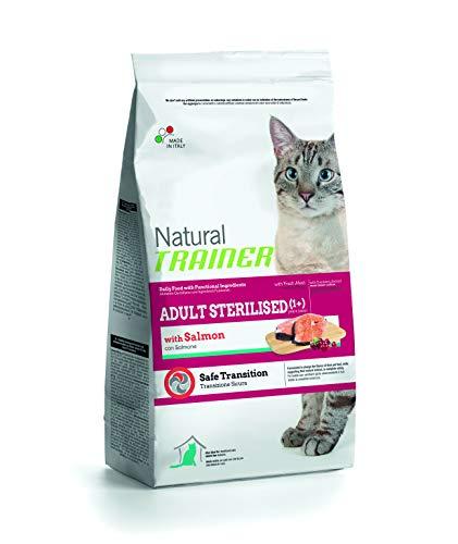 Trainer NovaFoods Cibo per Gatti Natural Cat Adult Sterilized Salmon 7,5KG - 7500 gr