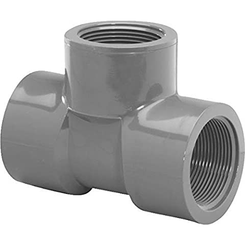 Genova 354578 Tee-fip Schedule 80 Pvc Fitting, 3/4 by Genova - 0,75 Pvc Tee