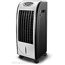 Deluxe - Climatizador Calefactor Ventilador Digital Pingüino Frío 85 W | Calor 1000 W - 1900 W, Humidificador - Purificador de Aire Portátil | TODO EN UNO | Mando a Distancia | LIQUIDACIÓN ULTIMAS UNIDADES HOGAR