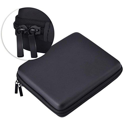 Malloom - Tasche aus EVA-Kunststoff, für Reisen, Organizer-Tasche, 10Fächer für Nintendo 2DS Schwarz (Kleine Video Game Organizer)