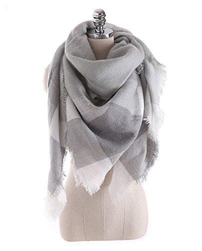DELEY Autunno Inverno Unisex Sciarpe Invernali Donna Coppia Mode Tartan Plaid Morbido Caldo Grande Stole Scialli Mantella Con Frangia Colore 5