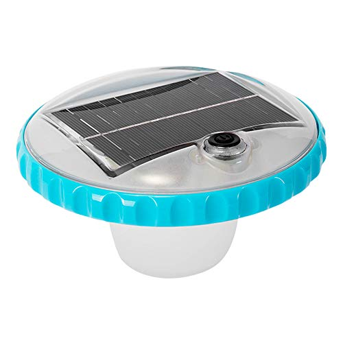Intex Solar Powered LED Floating Poolleuchte - Solarbetriebene Blitzboje - 2 Beleuchtungsmodi