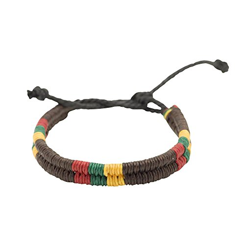 81stgeneration-cotton-rasta-brown-plaited-braided-bob-marley-adjustable-wristband-bracelet
